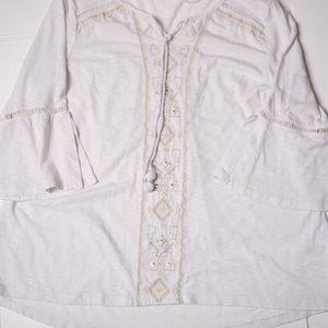 Style & Co Petite White and Cream